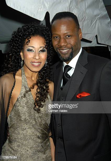 Tamara Tunie and Gregory Generet during 30th Annual Daytime Emmy Awards Arrivals at Radio City Music Hall in New York City New York United States