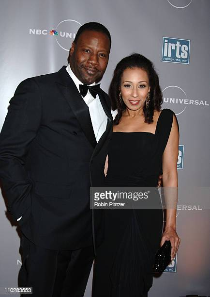 Tamara Tunie and husband Gregory Generet during International Radio and Television Society Foundation Gold Medal Award Dinner Honoring Jeff Zucker at...