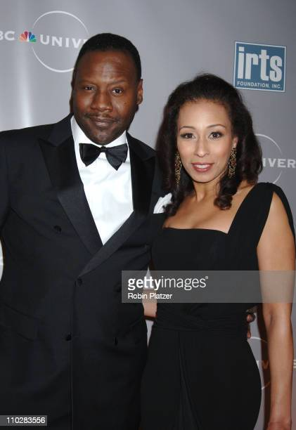 Tamara Tunie and husband Gregory Generet during International Radio and Television Society Foundation Gold Medal Award Dinner Honoring Jeff Zucker at...
