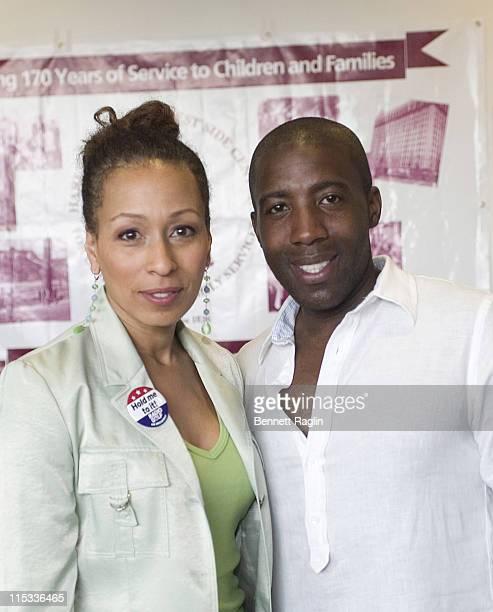 Tamara Tunie and Jeremiah during Harlem Dowling West Side Center Pre-Gala VIP Breakfast Honoring Congressman Charles Rangel at Chevorlet-Saturn of...