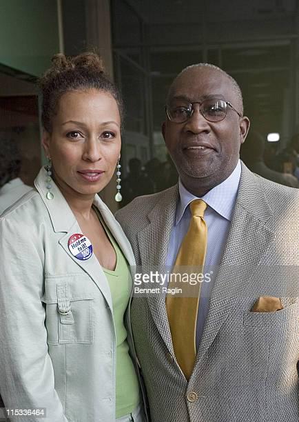 Tamara Tunie and Lloyd Williams, President of the Harlem Chamber of Commerce
