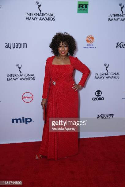 Tamara Tunie arrives for the 47th Annual International Emmy Awards at New York Hilton on November 25 2019 in New York City