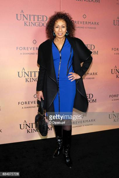 Tamara Tunie attends the A United Kingdom world premiere at The Paris Theatre on February 6 2017 in New York City