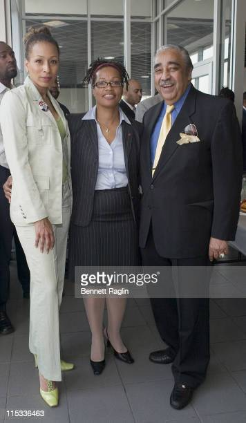 Tamara Tunie, Karen L. Raglin, Commerce Bank and Congressman Charles B. Rangel