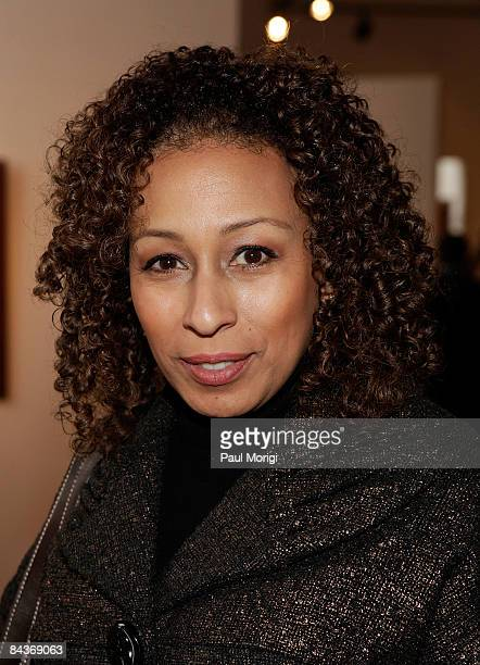 Tamara Tunie poses at the Creative Coalition's Students Inaugural Program at the Cole Field House at the University of Maryland on January 19 2009 in...