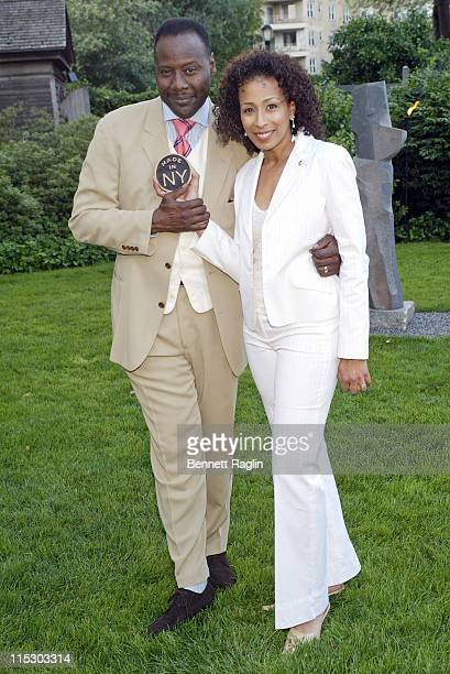 Tamara Tunie with husband Gregory Generet during Made in NYAwards for Outstanding Achievement in the Entertainment Industry at Gracie Mansion in New...