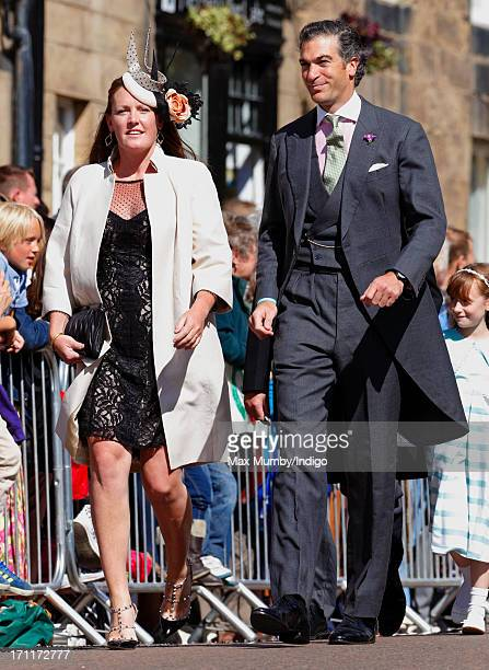 Tamara van Cutsem and Edward van Cutsem attend the wedding of Lady Melissa Percy and Thomas Van Straubenzee at St Michael's Church on June 22 2013 in...