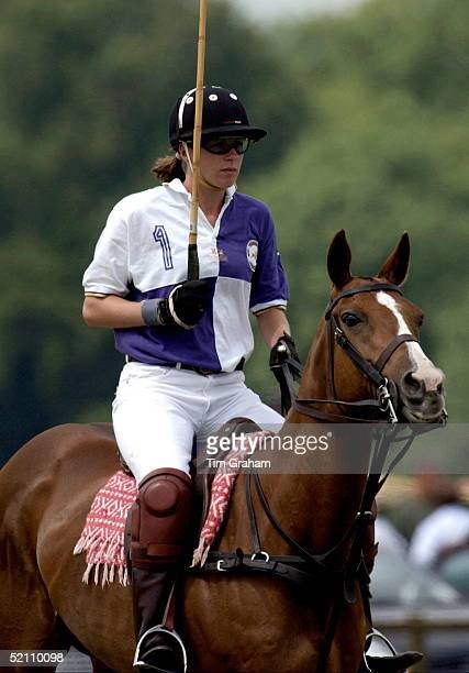 Tamara Vestey Playing Polo At Cirencester In Gloucestershire Her Team ' Cirencester Park ' Beat Charles And Harry's Team The Burberrychopard...