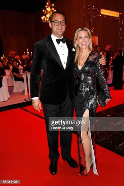 Tamara von Nayhauss and her husband Alexander Klackreuth during the aftershow party during the 24th Opera Gala at Deutsche Oper Berlin on November 4...