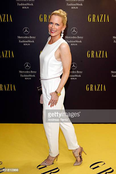 Tamara von Nayhauss arrives for the Opening Night by Grazia fashion show during the MercedesBenz Fashion Week Spring/Summer 2015 at Erika Hess...