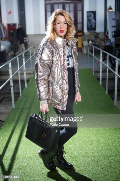 Tamara wears Alcott boots Michael Kors handbag and HM coat and pullover on February 11 2018 in Madrid Spain