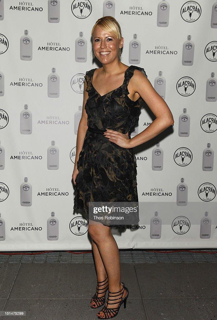 Tamara York attends Autentico Tequila Alacran Debuts Their Mezcal Alacran at Hotel Americano In NYC on September 7, 2012 in New York City.