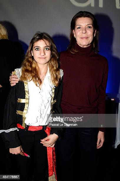 Tamara Zahid and Princess Caroline of Hanover pose after the Style Competition for Amade at the Gucci Paris Masters 2013 on December 7 2013 in Paris...