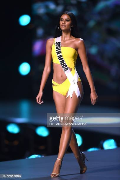 Tamaryn Green of South Africa competes in the swimsuit competition during the 2018 Miss Universe pageant in Bangkok on December 13 2018
