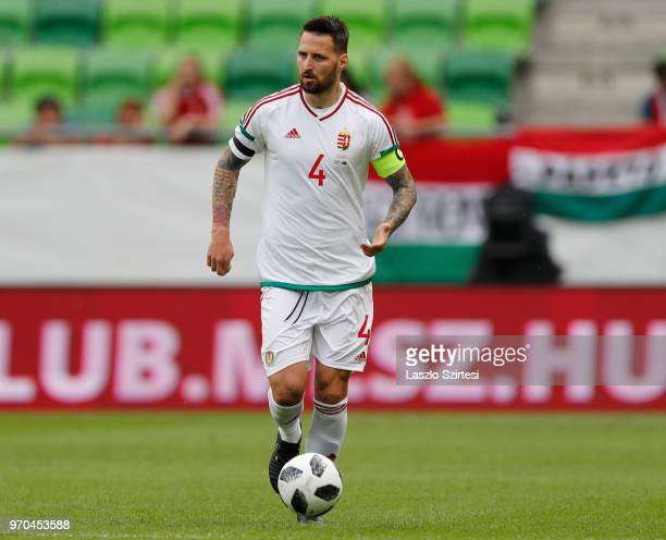 Tamas Kadar of Hungary controls the ball during the International Friendly match between Hungary and Australia at Groupama Arena on June 9 2018 in...