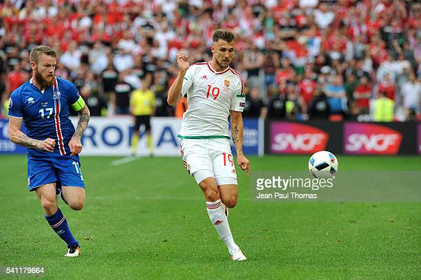 Tamas PRISKIN of Hungary during the UEFA EURO 2016 Group F match between Iceland and Hungary at Stade Velodrome on June 18 2016 in Marseille France
