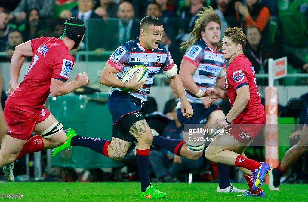 Super Rugby Rd 8 - Rebels v Reds : News Photo