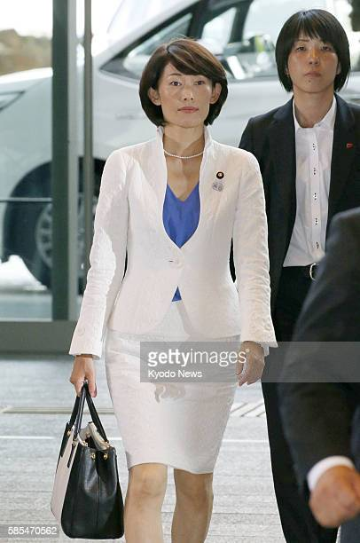 Tamayo Marukawa newly appointed as minister in charge of the Tokyo Olympic and Paralympic Games in a Cabinet reshuffle enters the prime minister's...