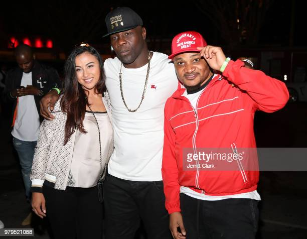 Tamba Hali and Producer Master Craft attend Tamba Hali EP Release Party at Murano on June 19 2018 in West Hollywood California