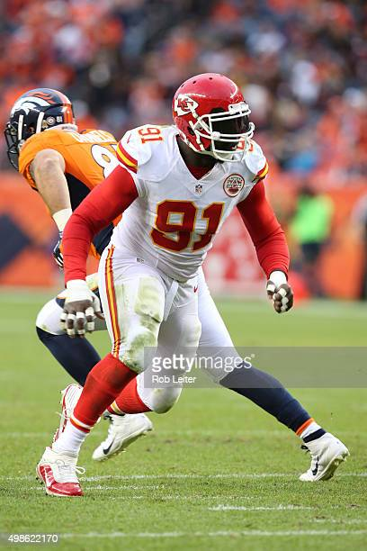 Tamba Hall of the Kansas City Chiefs in action during the game against the Denver Broncos at Sports Authority Field At Mile High on November 15 2015...