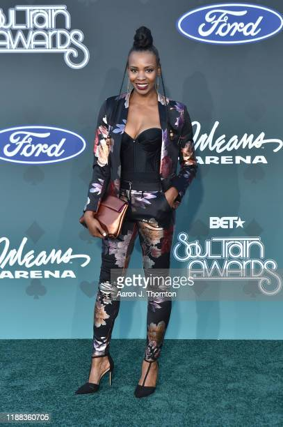 Tamberla Perry attends the Soul Train Music Awards on November 17, 2019 in Las Vegas, Nevada.