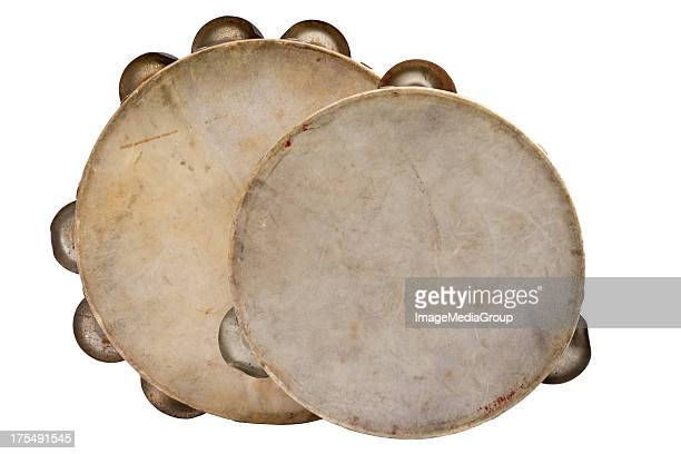 tambourines - tambourine foto e immagini stock