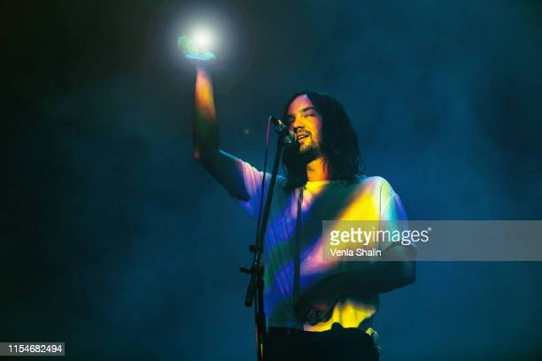 Tame Impala performs at The O2 Arena on June 8 2019 in London England