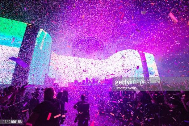 Tame Impala performs during 2019 Coachella Valley Music And Arts Festival on April 20 2019 in Indio California