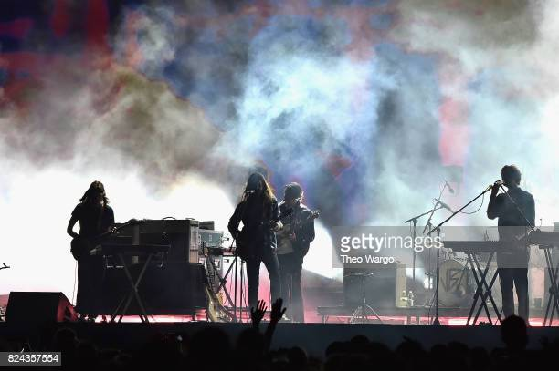 Tame Impala performs onstage during the 2017 Panorama Music Festival Day 2 at Randall's Island on July 29 2017 in New York City