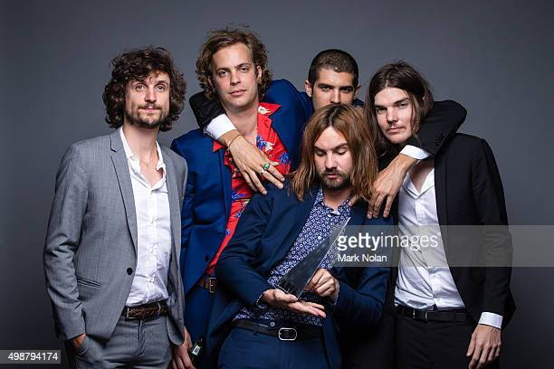 Tame Impala pose for a portrait with the ARIA for Album of the Year during the 29th Annual ARIA Awards 2015 at The Star on November 26, 2015 in...