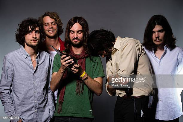 Tame Impala poses for a portrait during the 27th Annual ARIA Awards 2013 at the Star on December 1, 2013 in Sydney, Australia.