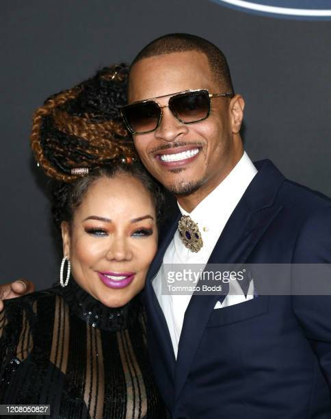 Tameka Cottle and T.I. Attend the 51st NAACP Image Awards, Presented by BET, at Pasadena Civic Auditorium on February 22, 2020 in Pasadena,...