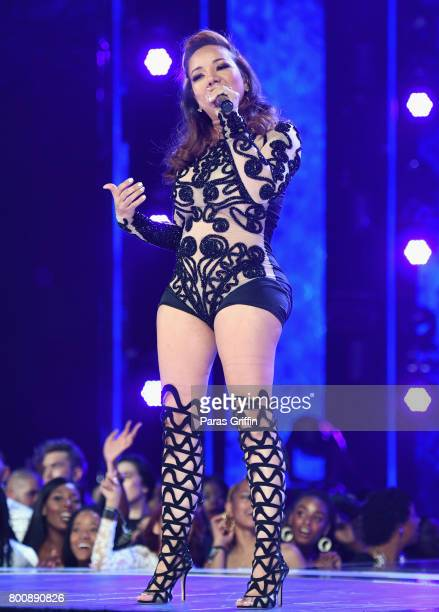 Tameka Cottle of Xscape performs onstage at 2017 BET Awards at Microsoft Theater on June 25, 2017 in Los Angeles, California.