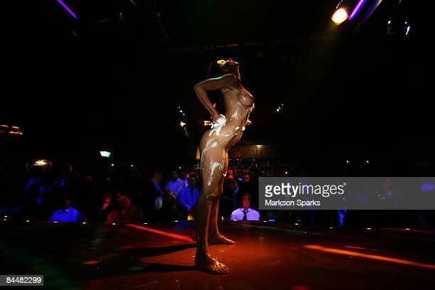 Tameka Dean performs onstage during a Penthouse Award night celebrating her new title as 'Penthouse Pet of the Year' at the Men's Gallery on November...