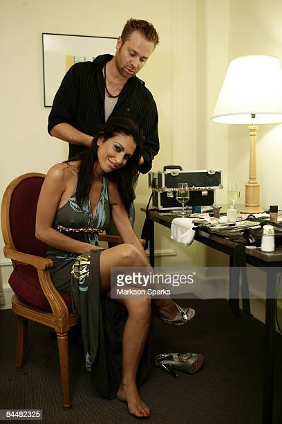 Tameka Dean prepares in her room prior to visiting the Men's Gallery on November 20 2008 in Melbourne Australia Tameka was recently awarded the title...