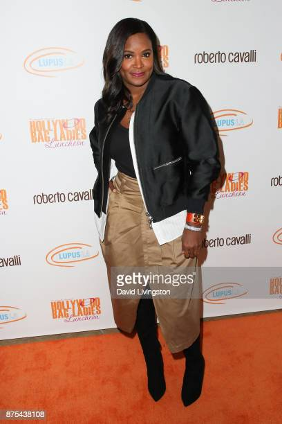 Tameka Foster arrives at the Lupus LA 15th Annual Hollywood Bag Ladies Luncheon at The Beverly Hilton Hotel on November 17 2017 in Beverly Hills...