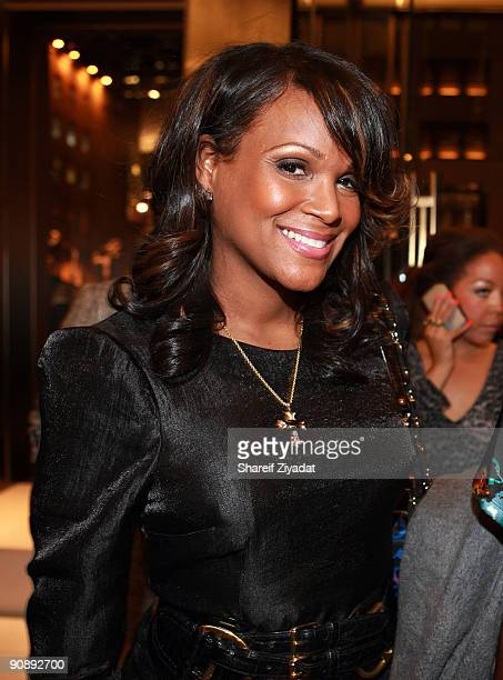 Tameka Foster attends the Gucci for FFAWN cocktail party at the Gucci Fifth Avenue store on September 16 2009 in New York City