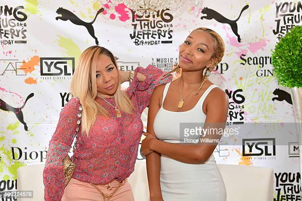 Tameka Harris and Zonnique Pullins attend Young Thugs 25th Birthday and PUMA Campaign on August 15 2016 in Atlanta Georgia