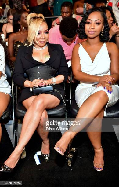 Tameka Harris attends at the BET Hip Hop Awards 2018 at Fillmore Miami Beach on October 6 2018 in Miami Beach Florida