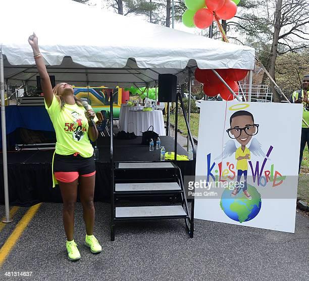 Tameka Raymond attends Kile's World 5K Run/Walk at Chastain Park Amphitheater on March 29 2014 in Atlanta Georgia