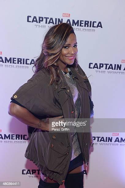 Tameka Raymond attends the 'Captain America The Winter Soldier' Atlanta Screening at Cinebistro on March 24 2014 in Atlanta Georgia