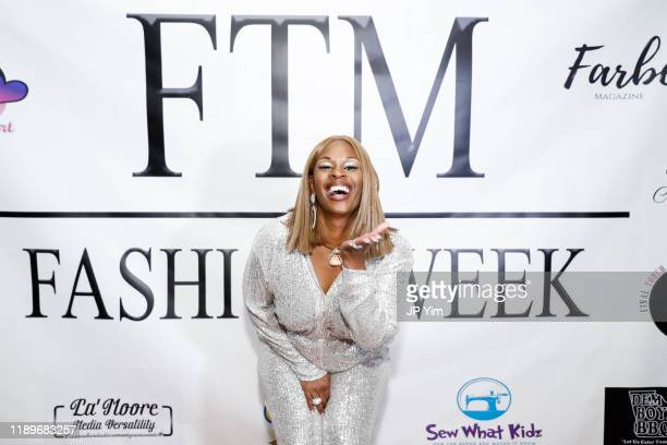 Tameka S Bright attends FTM Fashion Week S7 at Sturgeon City on November 23 2019 in Jacksonville North Carolina