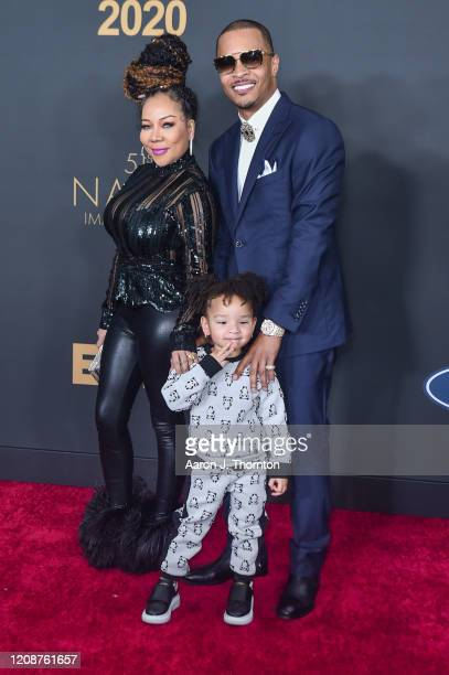 "Tameka ""Tiny"" Cottle and T.I. Attend the 51st NAACP Image Awards at the Pasadena Civic Auditorium on February 22, 2020 in Pasadena, California."