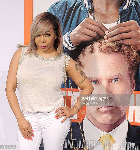 """Tameka """"Tiny"""" Cottle-Harris arrives at the Los Angeles premiere of """"Get Hard"""" at TCL Chinese Theatre IMAX on March 25, 2015 in Hollywood, California."""