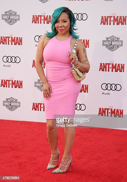 """Tameka 'Tiny' Cottle-Harris arrives at the premiere of Marvel Studios """"Ant-Man"""" at Dolby Theatre on June 29, 2015 in Hollywood, California."""