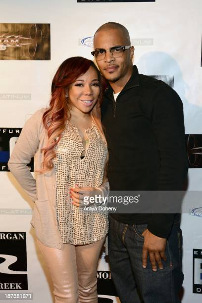 Tameka 'Tiny' Harris and TI attend the Emmett/Furla/Oasis Films hosts celebration for the upcoming production of 'Tupac' at Zanzibar on November 7...