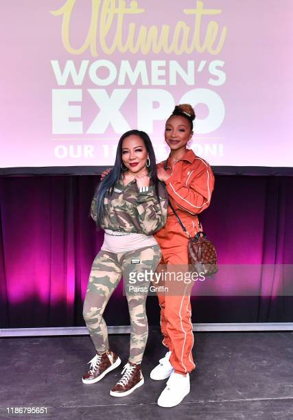 "Tameka ""Tiny"" Harris and Zonnique Pullins attend 2019 Atlanta Ultimate Women's Expo at Cobb Galleria Centre on November 10, 2019 in Atlanta, Georgia."