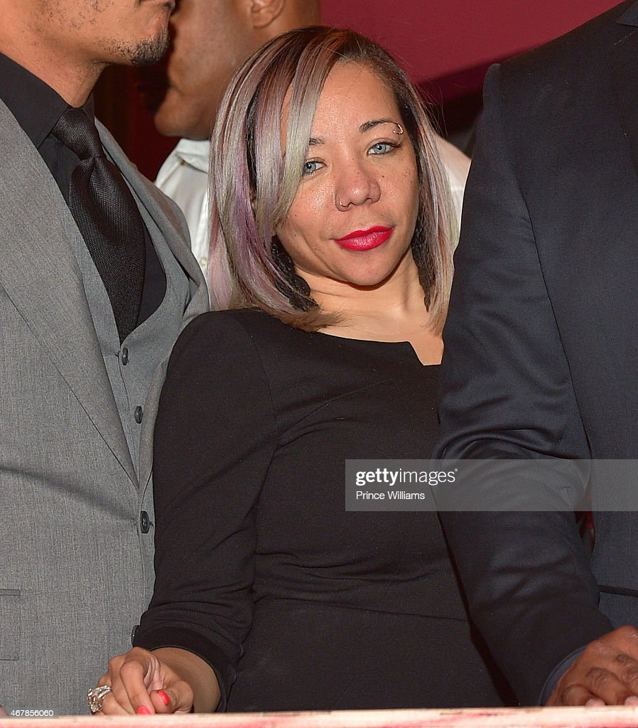 Tameka 'Tiny' Harris attends 925 Scales ribbon cutting ceremony at 925 Scales on March 27, 2015 in Atlanta, Georgia.