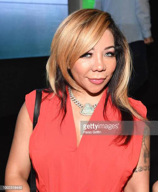 Tameka 'Tiny' Harris attends 'The Grand Hustle' Exclusive Viewing Party at The Gathering Spot on July 19 2018 in Atlanta Georgia