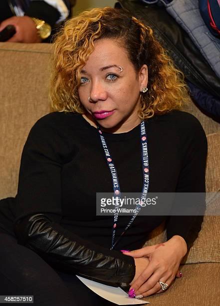 Tameka 'Tiny' Harris backstage at Philips Arena on November 1 2014 in Atlanta Georgia
